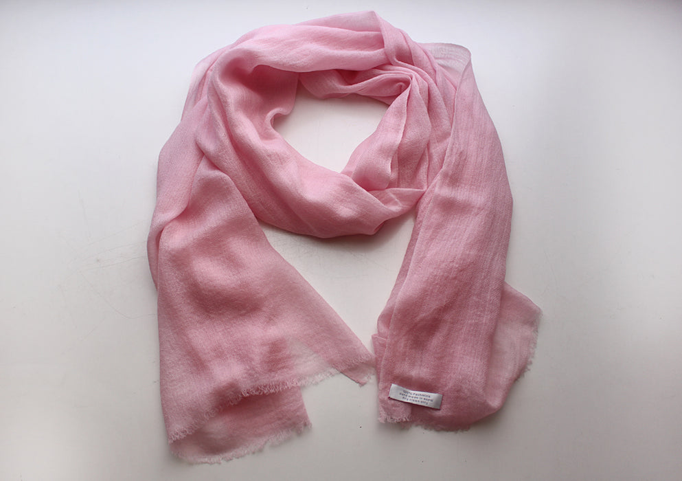 Light Pink 100% Pashmina Shawl from Nepal