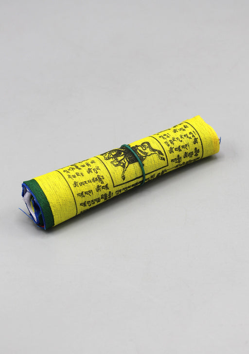 Cotton Windhorse Prayer Flags, Tibet Flags, Single Roll