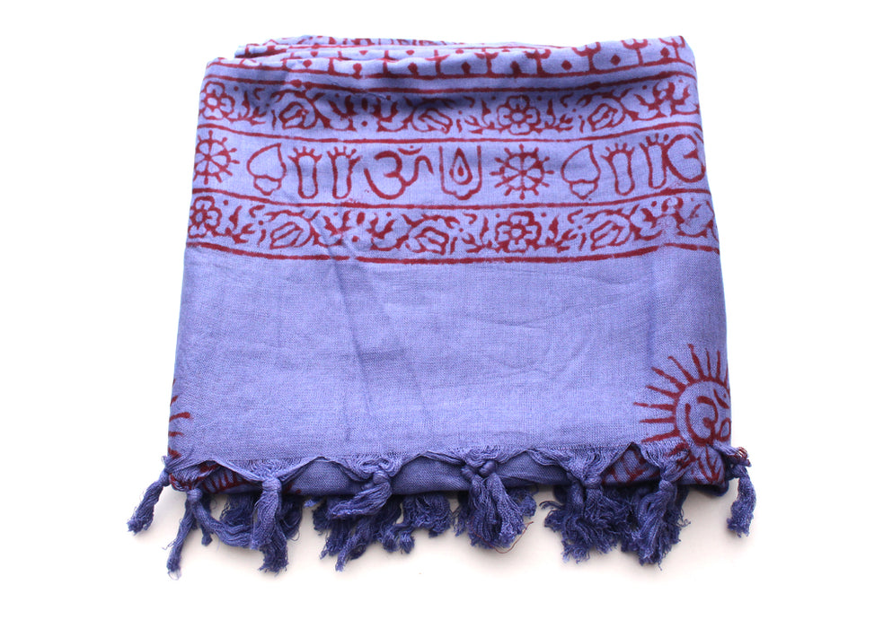 Buddha Printed Cotton Meditation Summer Shawl/Wraps with Beautiful Fringes - nepacrafts