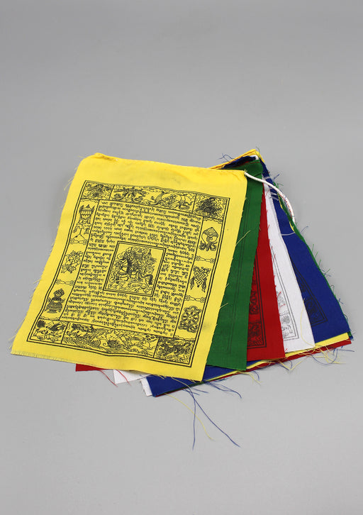 Traditional Tibetan Wind Horse Prayer Flags