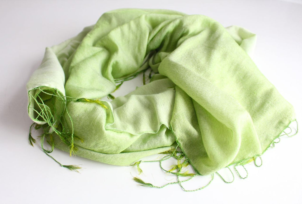 Smooth Silky Kale Water Pashmina Stoles - nepacrafts