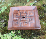 Brown Endless Knot Terracotta Incense Burner
