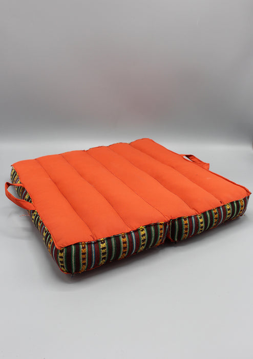 Orange Foldable Large Mediation and Yoga Cushion - nepacrafts