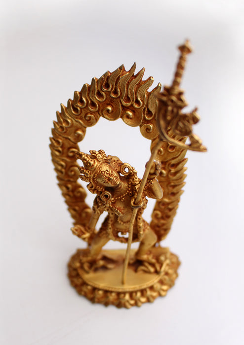 Goldplated Wrathful Vajrajogini Statue From Nepal - nepacrafts