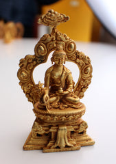 Fully Gold Plated Medicine Buddha Statue - NepaCrafts