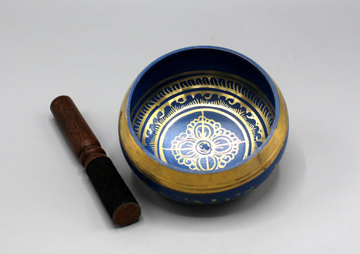 Double Dorjee Hand Painted Singing Bowl - nepacrafts
