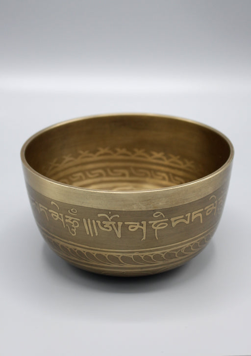 Double Dorjee And Tibetan Mantras Singing Bowl - nepacrafts