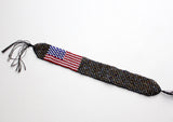 American Flag Shiney Glass Beads Unisex Bracelet - NepaCrafts