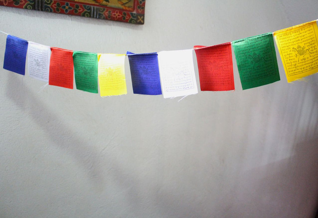 Baby Polyester Silk Windhorse Prayer Flags - nepacrafts