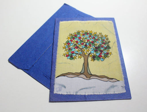 Fair Trade Batik Tree Greeting Cards