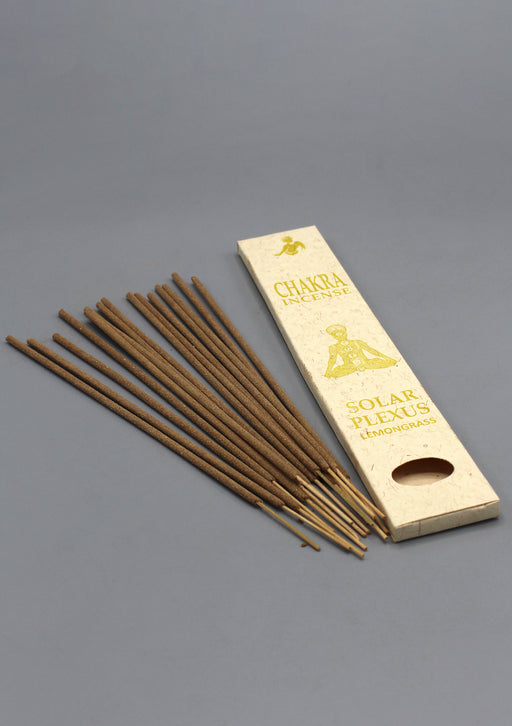 NepaCrafts Premium Solar Plexus Lemongrass Chakra Incense Sticks
