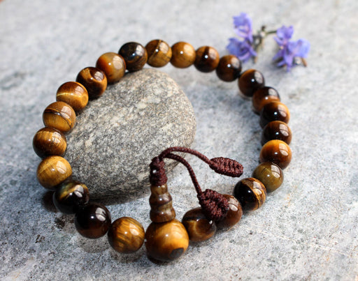Tiger Eye Stone Wrist Mala - nepacrafts