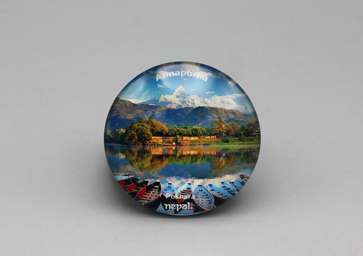 Annapurna Nepal Glass Fridge Magnet - nepacrafts