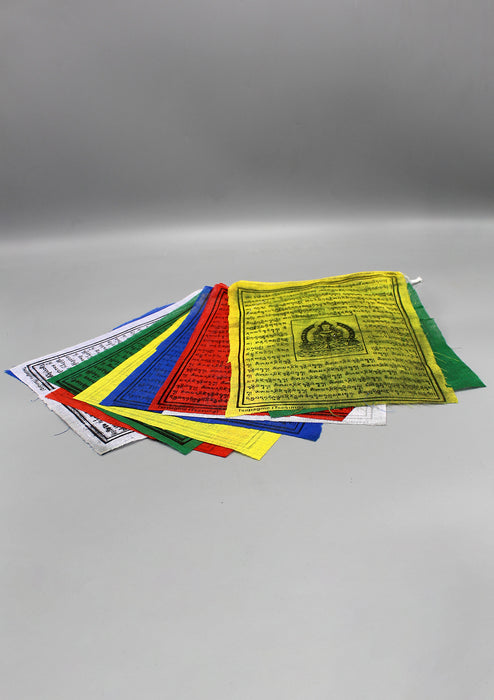 5 Rolls of Guru Padhmasambhava Printed Tibetan Cotton Prayer Flags