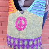 Cotton Patchwork Peace Hippie Bag, Jogi Side Carry Bag