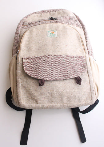 Light Weight and Multipurpose Ecofriendly Hemp Carry Bag, Hemp Backpack