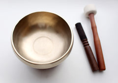 Tibetan Sangha Thearapy Singing Bowl Note # F with Cushion and Mallet - NepaCrafts