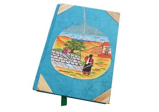 Traditional Nepalese Women Carrying Water Painted Journal Book - nepacrafts