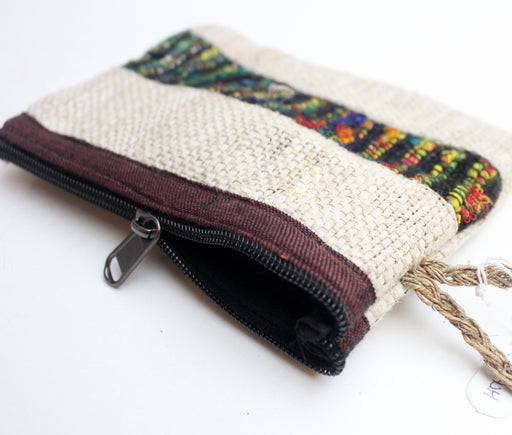 Hemp Clutch Purse with Zipper - nepacrafts