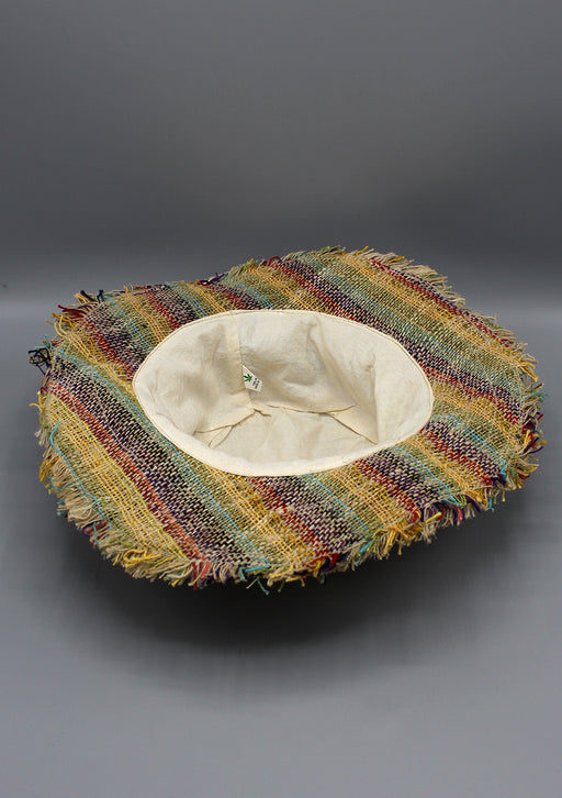 Colorful Hemp Hat with Fringe - nepacrafts