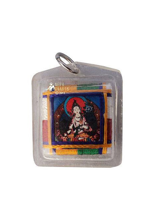 White Tara Sungkhor Protection Amulet - nepacrafts