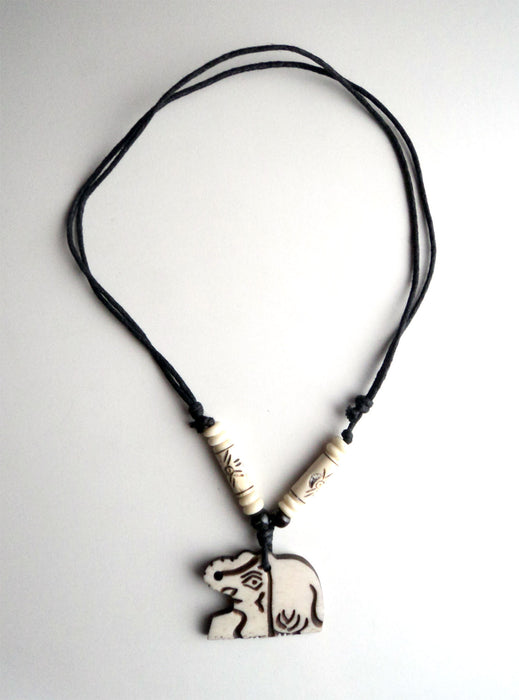 Handcrafted Elephant Pendant Necklace - nepacrafts