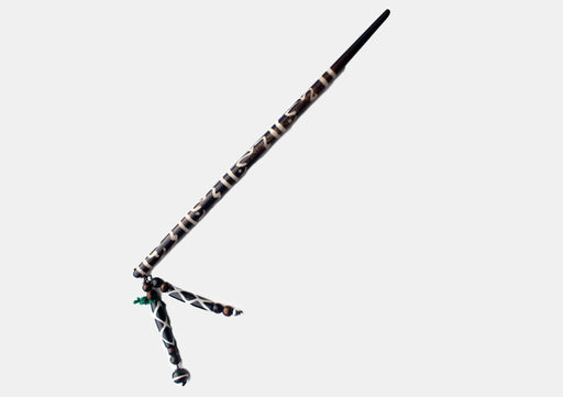 Om Painted Yak Bone Hair Sticks Clip - nepacrafts