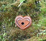 Heart Incense Burner Clay