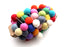 Multicolor Felt Ball Pom Pom Christmas Hanging Nursery Decor - nepacrafts