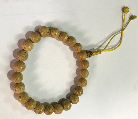 Adjustable Off White Lotus Seeds Wrist Mala - NepaCrafts
