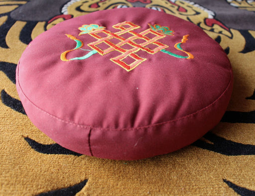 Endless Knot Embroidered Meditation Cushion
