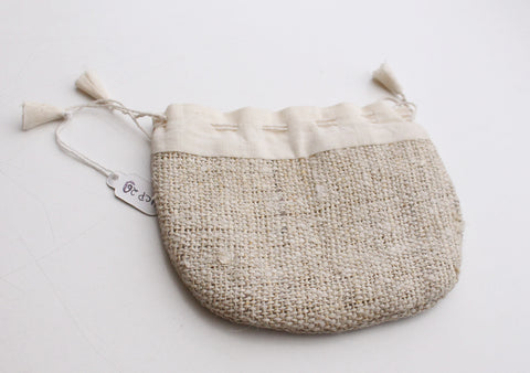 Hemp Drawstring Jewellery Gift Pouch