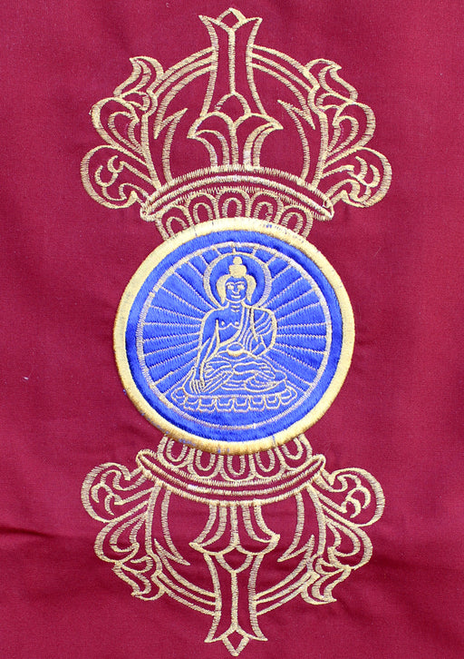 Double Dorjee Buddha Embroidered Tibetan Wall Hanging - nepacrafts
