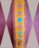 All Chakra Signs Embroidered Polyester Banner - NepaCrafts