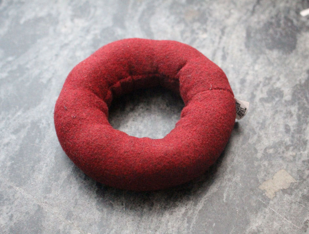 Maroon Blazer Ring Cushion for Singing Bowls - nepacrafts