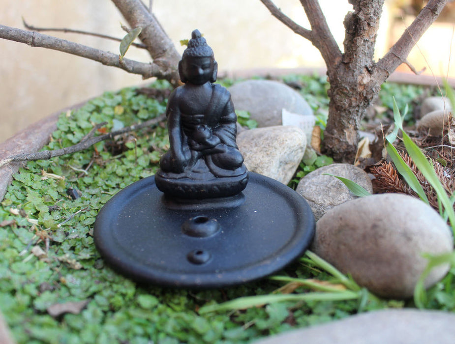 Buddha Clay Incense Burner - nepacrafts
