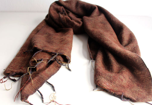 Plain Yak Shawl Brown - nepacrafts