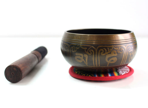 Endless Knot Etched Singing Bowls - nepacrafts