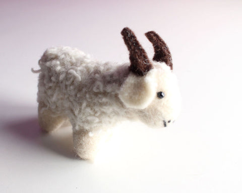 Miniature Felt Sheep Deco