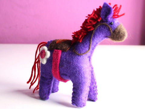 Felt Miniature Horse Deco Ornament