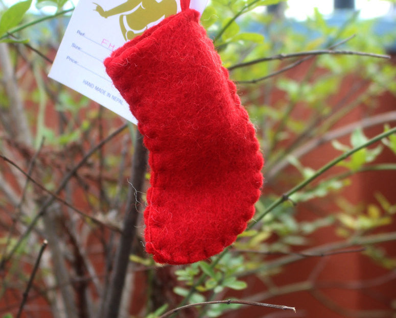 Felt wool Christmas Socks Ornaments - nepacrafts