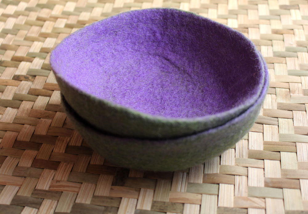 Large Felt Bowls, Felt Decorative Bowls - nepacrafts