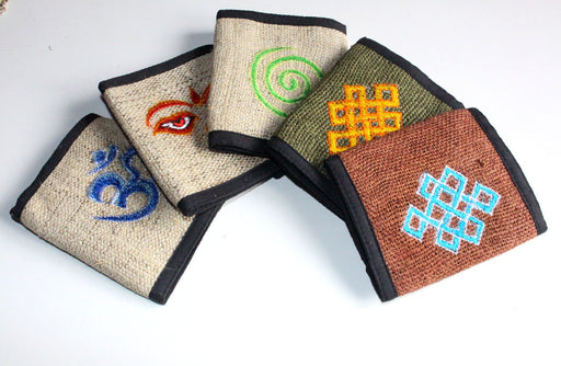 Embroidered Hemp Wallets - nepacrafts