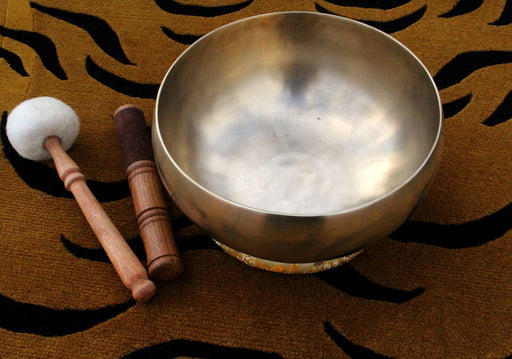 High Quality Metal Tibetan Healing Therapy Bowl with Mallet and Pillow - nepacrafts