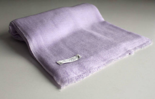 Pure Pashmina Shawl-Light Purple - nepacrafts