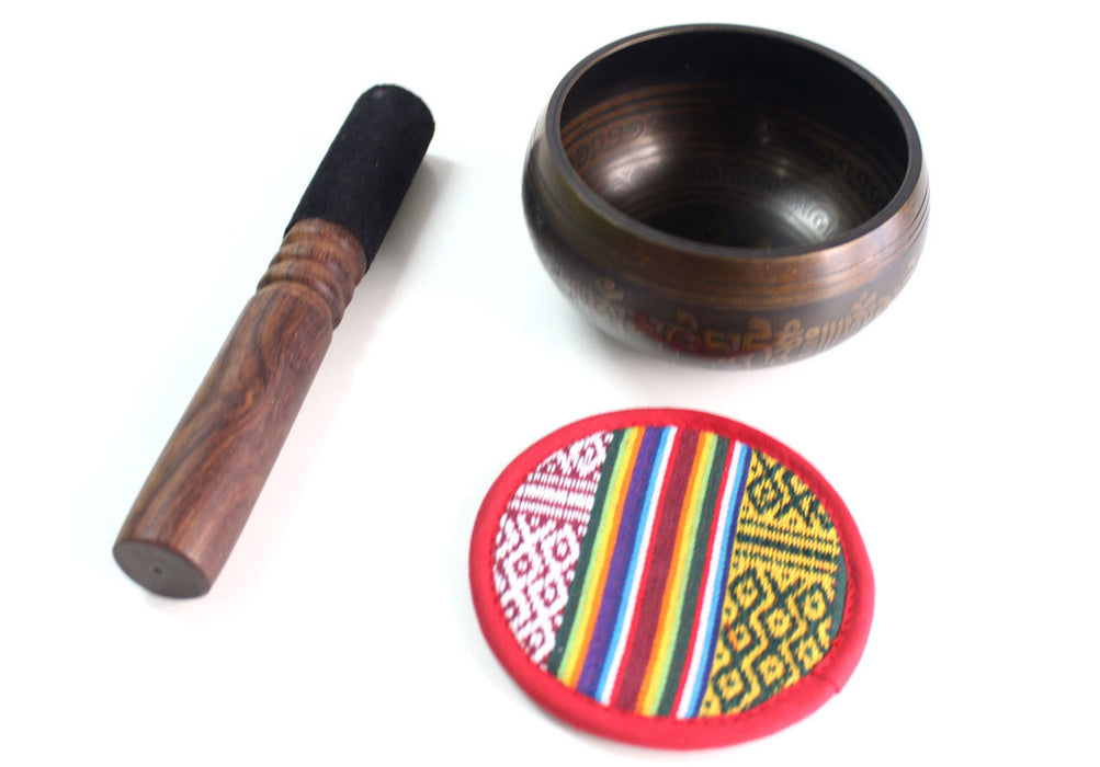 Om Mani Mantra Etched Tibetan Singing Bowls - nepacrafts
