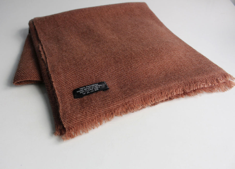Pure Pashmina Shawl Brown - nepacrafts