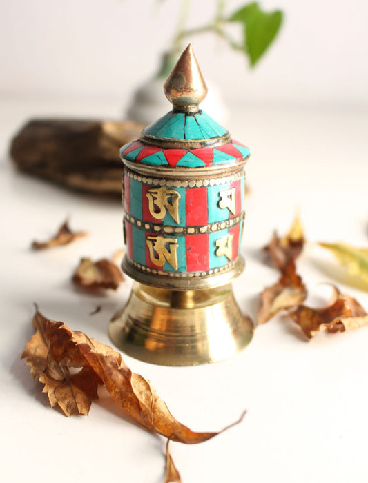 Colorful Mosaic Small Prayer Wheel - nepacrafts
