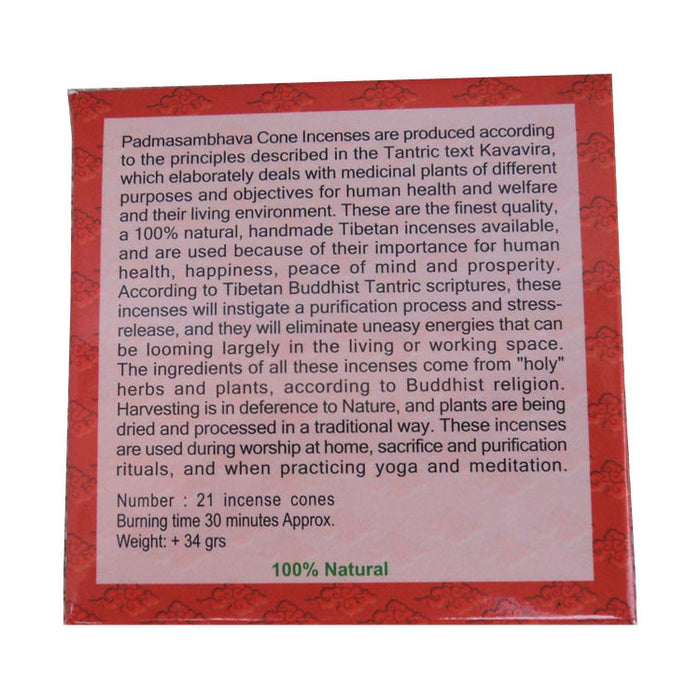 Tibetan Deities Herbal Cone Incense - nepacrafts