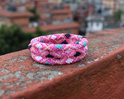 Bright Pink Roll On Bracelet Nepal - nepacrafts